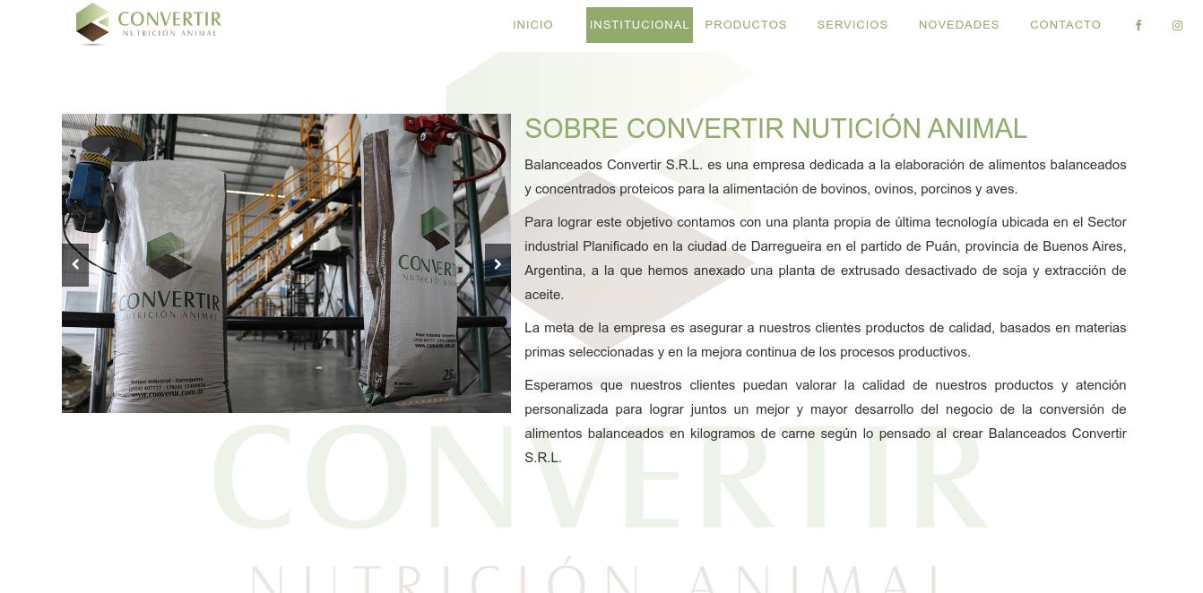 Convertir Nutrición Animal